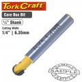ROUTER BIT CORE BOX 1/4""