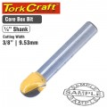 ROUTER BIT CORE BOX 3/8""