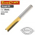 ROUTER BIT STRAIGHT 8MM