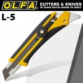 OLFA CUTTER HEAVY DUTY WITH REAR PICK & COMFORT HANDLE SNAP OFF KNIFE