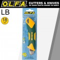 OLFA 18MM HEAVY DUTY CUTTER WITH AUTO LOCK GREEN