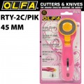 OLFA ROTARY SPLASH CUTTER 45MM BLADE R/L HANDED PINK