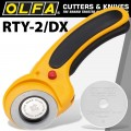 OLFA 45MM ROTARY CUTTER WITH SAFETY LOCK SYSTEM + FREE RB45H BLADE