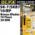 OLFA SAFETY CUTTER MODEL SK-7  WITH X10 FREE SKB7 BLADES