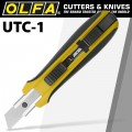 OLFA UTILITY KNIFE WITH SOLID BLADE HEAVY DUTY NON SLIP GRIP