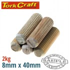 DOWELS 8 X 40MM 2KG BAG