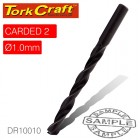 DRILL BIT HSS STANDARD 1.0MM 2/CARD
