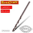 DRILL BIT HSS INDUSTRIAL 5.0MM 135DEG 1/CARD
