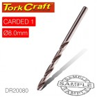 DRILL BIT HSS INDUSTRIAL 8.0MM 135DEG 1/CARD