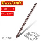 DRILL BIT HSS INDUSTRIAL 10.5MM 135DEG 1/CARD