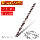 DRILL BIT HSS INDUSTRIAL 11.5MM 135DEG 1/CARD