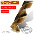 DRILL BIT HSS TURBO POINT 6.0MM 1/CARD