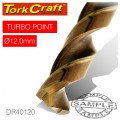 DRILL BIT HSS TURBO POINT 12.0MM 1/CARD