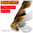 DRILL BIT HSS TURBO POINT 13.0MM 1/CARD