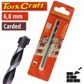 DRILL BIT MASONRY/CONCRETE  6.0MM 1/CARD