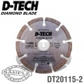 DIAMOND BLADE SEGMENTED MID. 115 X 22.23MM