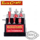 ROUTER BIT SET 6PC PLASTIC BOX 1/4 SHANK