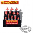 ROUTER BIT SET 12PC PLASTIC BOX 1/4 SHANK