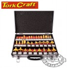 ROUTER BIT SET 35PC ALUMINIUM CASE 1/4 SHANK