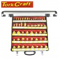 ROUTER BIT SET 50 PIECE IN ALUMINIUM CASE 1/4 SHANK
