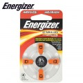 ENERGIZER HEARING AID BATTERY AZ13 ORANGE 4 PACK (MOQ 6)