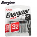 ENERGIZER MAX AAA - 6 PACK (MOQ 12)