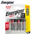 ENERGIZER MAX AAA - 6PACK 4+2 FREE