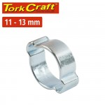 TORK CRAFT DOUBLE EAR CLAMP C/STEEL 11-13MM (10PC PER PACK)
