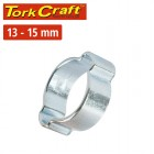 TORK CRAFT DOUBLE EAR CLAMP C/STEEL 13-15MM (10PC PER PACK)