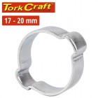 TORK CRAFT DOUBLE EAR CLAMP C/STEEL 17-20MM (10PC PER PACK)