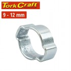 TORK CRAFT DOUBLE EAR CLAMP C/STEEL 9-12MM (10PC PER PACK)