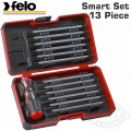 FELO SMART SET 13PCS 48 IN 1 SCREWDRIVER T- HANDLE IN STRONGBOX 1/4""