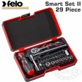 "FELO 060 SMART II RATCH. SET 29PC BIT/SOCK. 1/4"" STRONGBOX"
