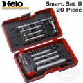 "FELO 060 SMART ENG. SET 20PCS NUT DR. 1/4"" STRONGBOX"