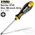 FELO 411 PZ2X100 S/DRIVER ERGONIC HEX WRENCH GRIP