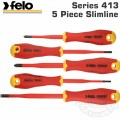 FELO 413 S/DRIVER SET 5PC ERGONIC SLIMLINE INSULATED VDE SL/PH