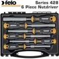 FELO 428 NUT DRIVER SET 6PC ERGONIC MAGNETIC HARD CASE