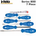 FELO S/DRIVER SET 7-PC. FW-KA BLUE SERIES SL;PZ;PH
