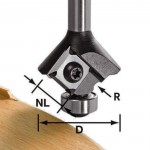FESTOOL ROUNDOVER CUTTER WITH REVERSIBLE BLADES S8 HW R3 D28 KL12,7OFK