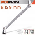 FIXMAN HINGED SOCKET WRENCH 8X9MM