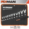 FIXMAN 11PCS COMBINATION SPANNER SET 8-9-10-11-12-13-14-15-17-19-22