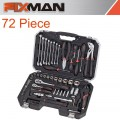 "FIXMAN SOCKET TOOL SET 72PC 1/4""&1/2"" DRIVE"
