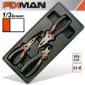 "FIXMAN 3-PC PLIERS SET (COMBINATION 8""NCUTTING 7.5"" LONG NOSE 8"")"