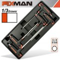 FIXMAN 5-PC L-HANDLE HEX KEYS W-BALL HEAD 3-4-5-6-8MM