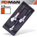 "FIXMAN TRAY 3 PIECE ADJUSTABLE WRENCH 6""8""10"""