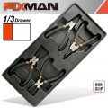 "FIXMAN TRAY 4 PIECE 6"" INTERNAL AND EXTERNAL CIRCLIP PLIERS"