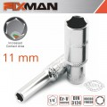 "FIXMAN 1/4"" DR DEEP SOCKET 11MM"
