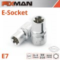 "FIXMAN 1/4"" DRIVE E-SOCKET 6 POINT E7"