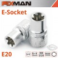 "FIXMAN 3/8"" DRIVE E-SOCKET 6 POINT E20"
