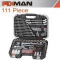 "FIXMAN SOCKET TOOL SET 111PC 1/4""&1/2"" DRIVE"